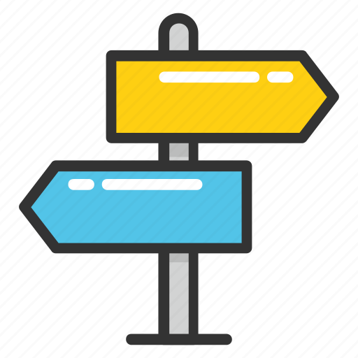 direction post, finger post, guidepost, roadpost, signpost icon