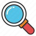 focus, magnifier, magnifying glass, search tool, zoom icon