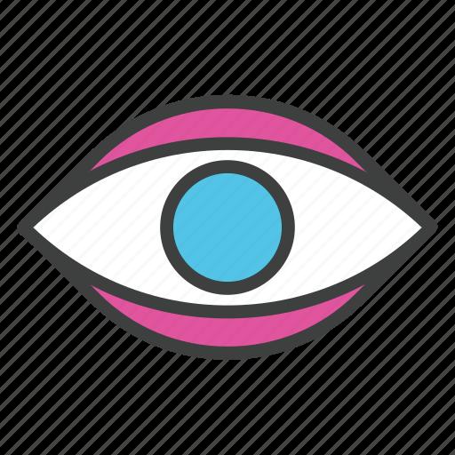 eye, eyeview, focus, human eye, observation icon