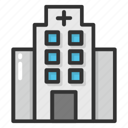clinic, dispensary, hospital, hospital building, pharmacy icon