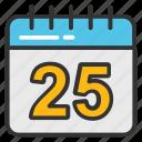 calendar, calendar date, date, schedule, timetable icon
