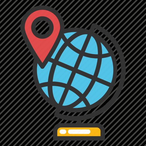 educational globe, geography, office globe, school globe, table globe icon
