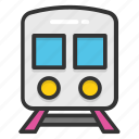 locomotive, railway traveling, train, tram, traveling icon