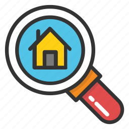 find home, online home search, property search, real estate, search home icon