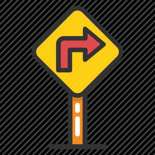 arrow indication, directional arrow, navigation symbol, turn right icon