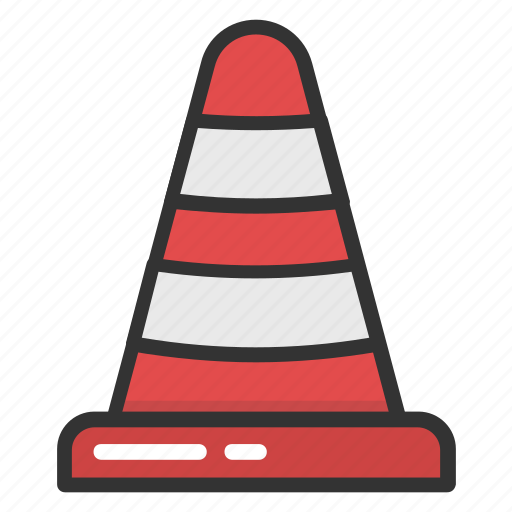 construction cone, hazard cone, road sign, security equipment, traffic cone icon