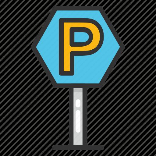 car parking, car parking sign, parking area, parking space, parking zone icon