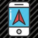 mobile gps, mobile navigation app, mobile navigation website, mobile navigator, smartphone navigation icon