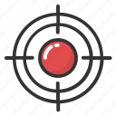 aiming, crosshair, scope, sniper sight, target sign icon
