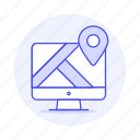app, application, desktop, destination, direction, gps, location, mac, map, navigation, pc, pin, screen, window