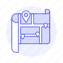map, navigation, places, gps, destination, my, direction, place, location, on, pin icon