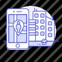 app, application, direction, gps, live, location, map, navigation, phone, pin, smartphone, street