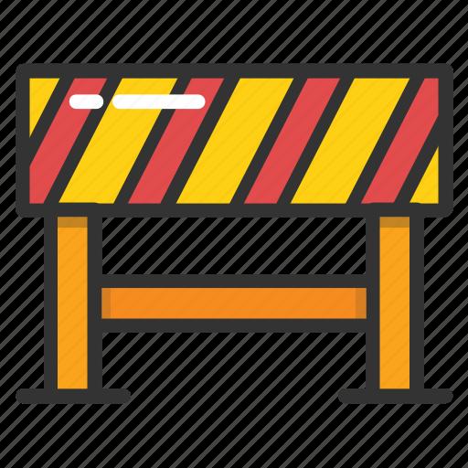 barricade, road barrier, road maintenance, roadblock, traffic warning icon