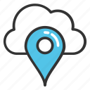 cloud map marker, cloud map pin, navigation marker cloud, rain marker, weather marker icon