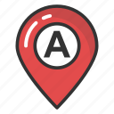 location pin, location placeholder, map marker, map pin, map pointer icon
