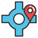 geo targeting, location target, navigation pointer with crosshair, tourism, traveling concept icon