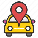 car gps, car location pin, car navigation, car navigation system, car satellite navigation icon