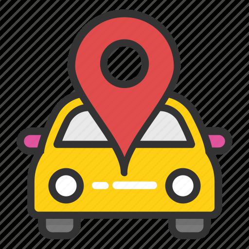 car gps, car location pin, car navigation, car navigation system, car satellite navigation icon