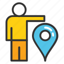 geotargeting, gps location, navigation concept, user location, user location pin icon