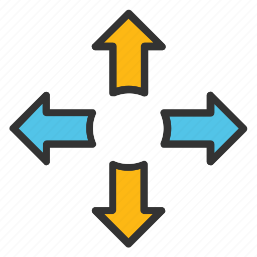 Arrow direction, arrow hint, cardinal directions, directional arrows,  navigational arrows icon - Download on Iconfinder