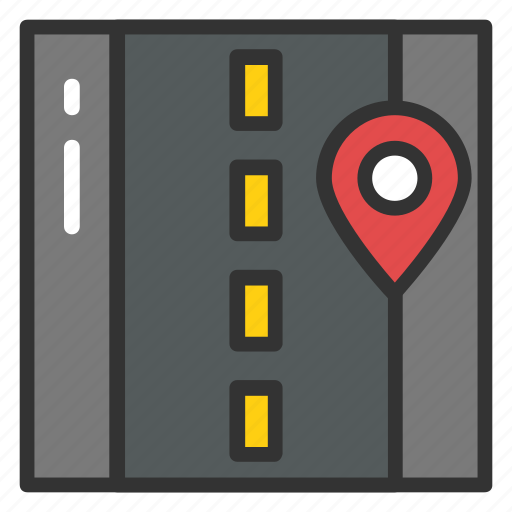 road pin, road tracking, road tracking map, roadside, roadway icon