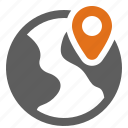 global, globe, location, map, pin, world