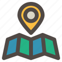 direction, globe, location, maps, navigation icon
