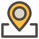 gps, location, maps, navigation, pin icon