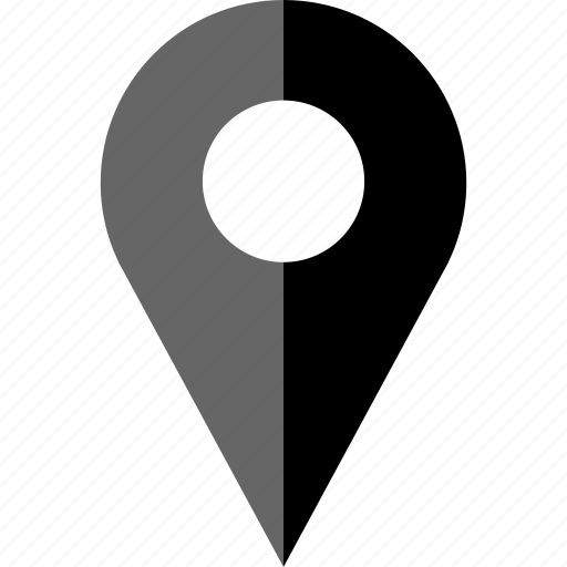 abstract, direction, find, locate, pin icon