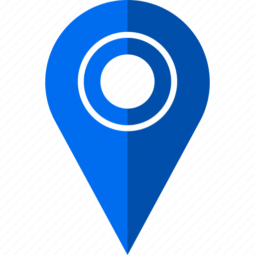 abstract, direction, locate, pin, sleek icon