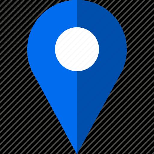 locate, map, pin, sleek icon