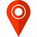 locate, map, pin, target icon
