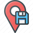 geolocation, location, map, pin, save icon