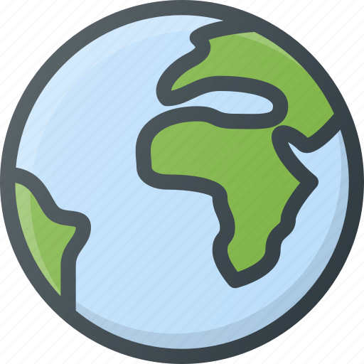 earth, global, globe, location, map icon