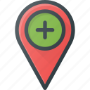 add, geolocation, location, map, pin icon