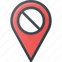 disable, geolocation, location, map, pin icon