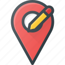 edit, geolocation, location, map, pin icon