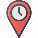 geolocation, history, location, map, pin, time icon