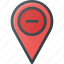 geolocation, location, map, pin, remove icon