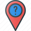 ask, geolocation, location, map, pin, request icon