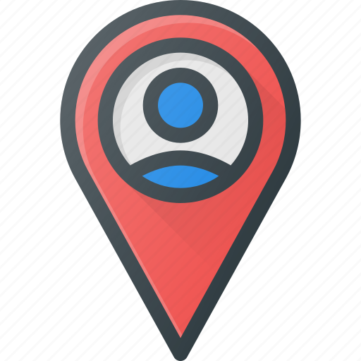 location, map, user icon