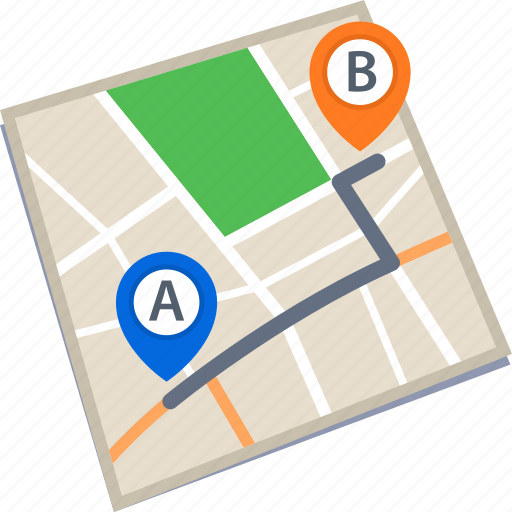 destination, location, map, route icon
