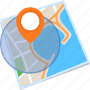 find, gps, location, map, search icon