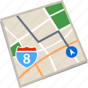 gps, location, map, route icon