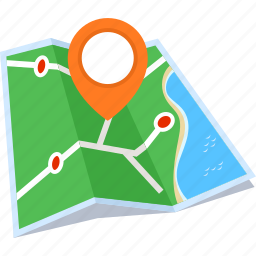 address, location, map, pin icon