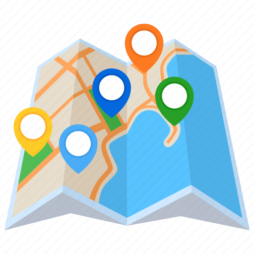 destination, location, map, pin icon