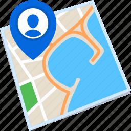 destination, location, map, pin icon