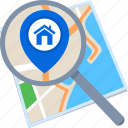 destination, find, location, map, search