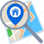destination, find, location, map, search icon