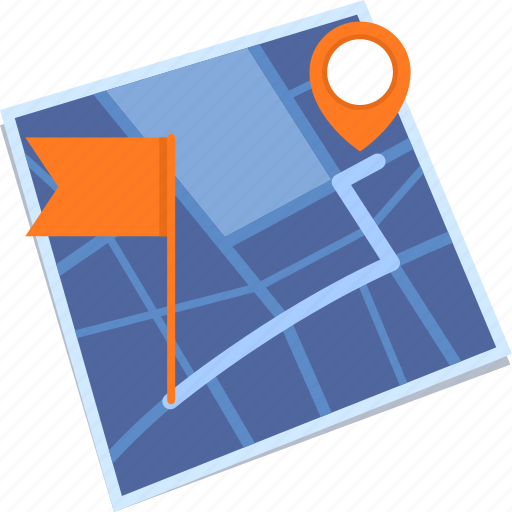 destination, finish, map, route icon
